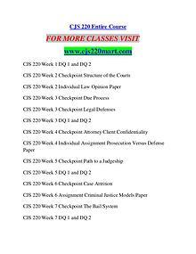 CJS 220 MART Career Begins/cjs220mart.com