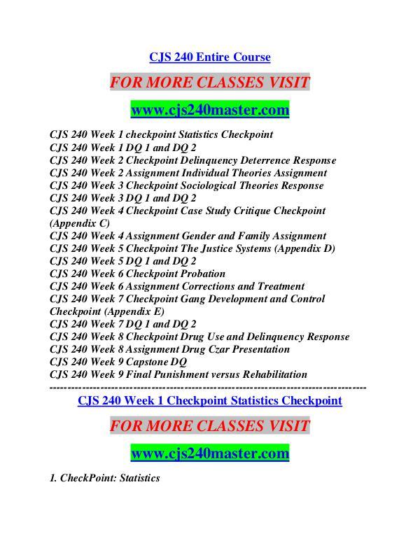 CJS 240 MASTER Career Begins/cjs240master.com CJS 240 MASTER Career Begins/cjs240master.com