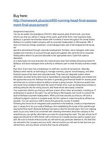 ACCT400 Running Head: Final Assessment Final Assessment