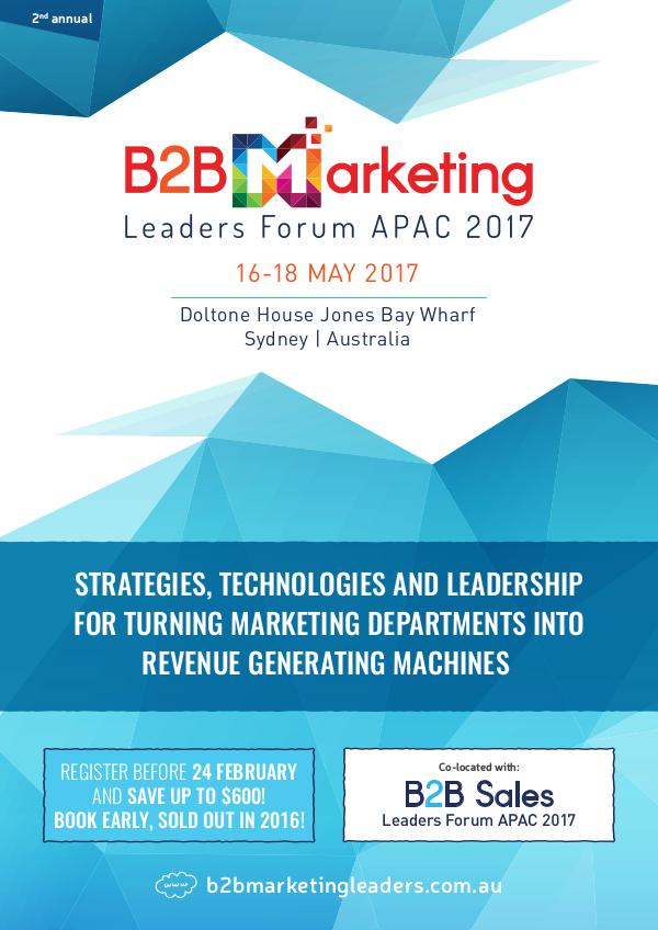 B2B Marketing Leaders Forum APAC 2017 Conference Brochure 1