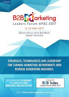 B2B Marketing Leaders Forum APAC 2017 Conference Brochure