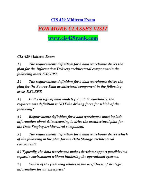 CIS 429 RANK Future Starts Here/cis429rank.com CIS 429 RANK Future Starts Here/cis429rank.com