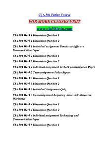 CJA 304 EDU Career Begins/cja304edu.com