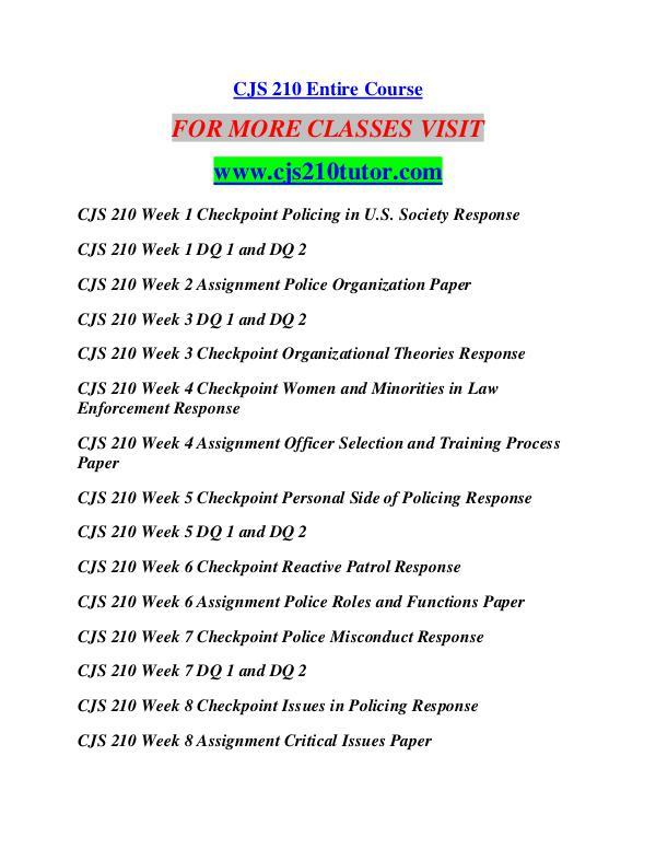 CJS 210 TUTOR Career Begins/cjs210tutor.com CJS 210 TUTOR Career Begins/cjs210tutor.com