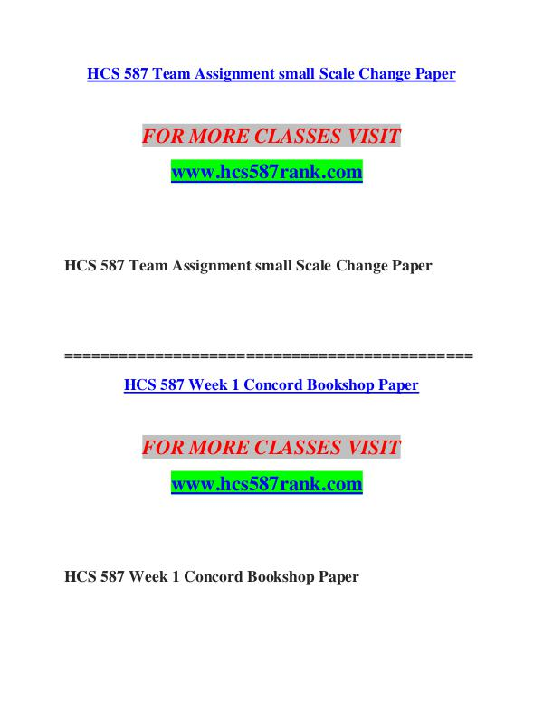 HCS 587 RANK Invent Yourself/hcs587rank.com FOR MORE CLASSES VISIT                       www.h