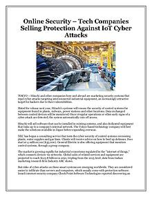 Online Security – Tech Companies Selling Protection Against IoT Cyber