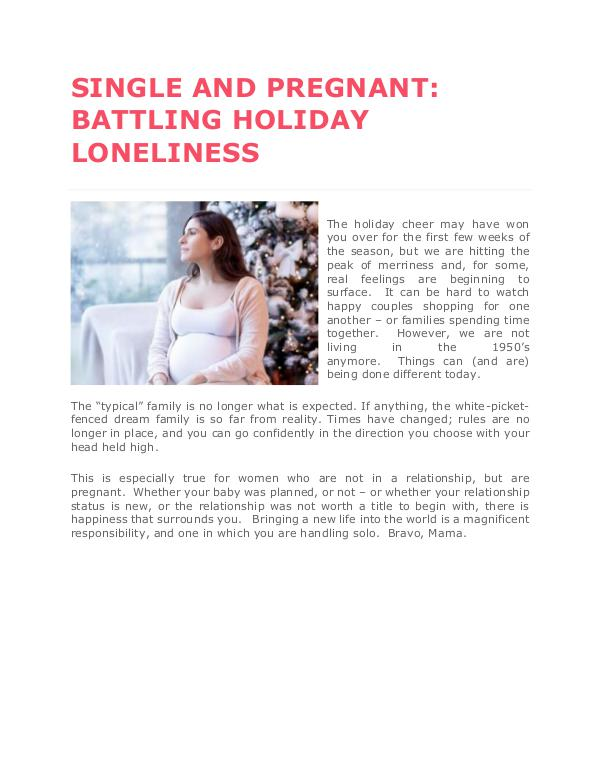 Holiday Season and Single Pregnant : How To Cope Up With Holiday Depr Holiday Season and Single Pregnant : How To Cope U