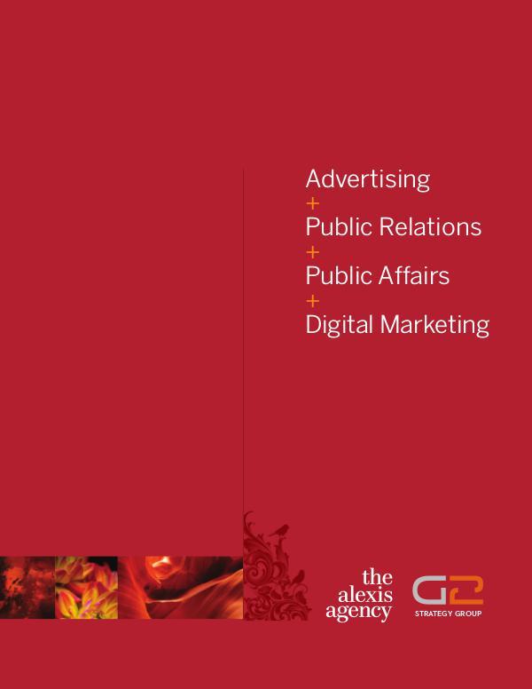 The Alexis Agency Strategic Communications Portfolio I