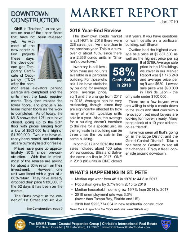 Downtown Condo Market Report January 2019 Downtown Condo Market Report