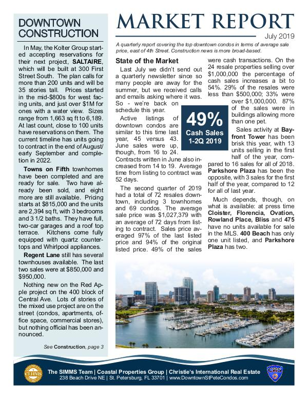 Downtown Condo Market Report July 2019 Downtown Condo Market Update