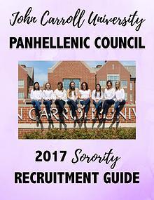 John Carroll University 2017 Sorority Recruitment Booklet