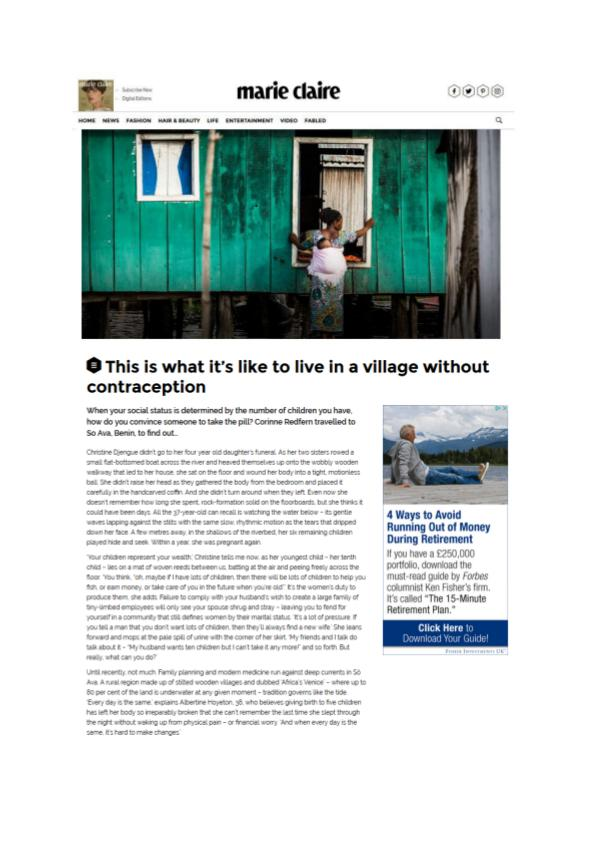 This is what it's like to live in a village without contraception Marie-Claire magazine