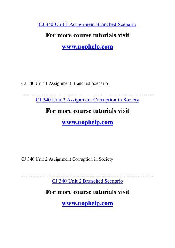 CJ 340 Education Begins/uophelp.com CJ 340 Education Begins/uophelp.com