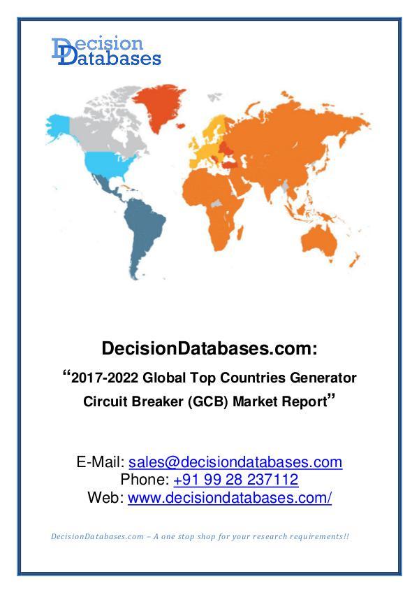 Market Report- Global Generator Circuit Breaker (GCB) Market