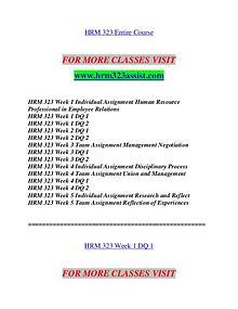 HRM 323 ASSIST Invent Yourself/hrm323assist.com