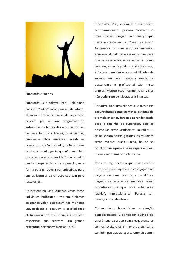 Artigos Originais Superação e Sonhos