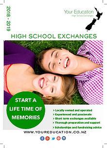 2018 Your Education High School Exchanges Brochure