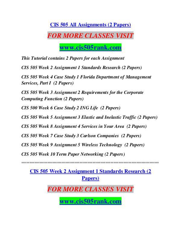 CIS 505 RANK Future Starts Here/cis505rank.com CIS 505 RANK Future Starts Here/cis505rank.com