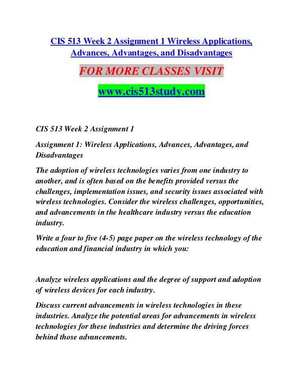 CIS 513 STUDY  Future Starts Here/cis513study.com CIS 513 STUDY  Future Starts Here/cis513study.com