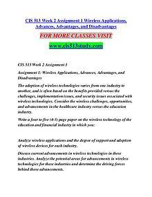 CIS 513 STUDY  Future Starts Here/cis513study.com