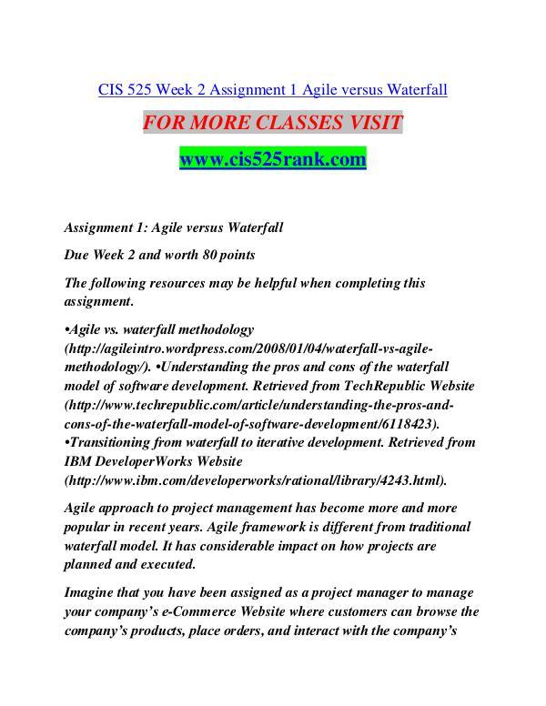 CIS 525 RANK Future Starts Here/cis525rank.com CIS 525 RANK Future Starts Here/cis525rank.com