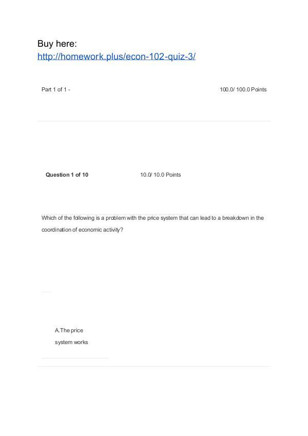 ECON 102 Quiz 3 APU