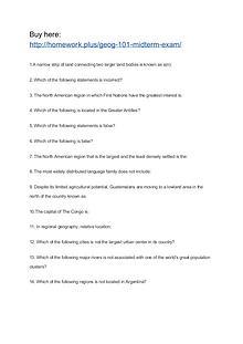 GEOG 101 Midterm Exam