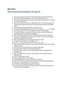 GEOG 101 Quiz 3