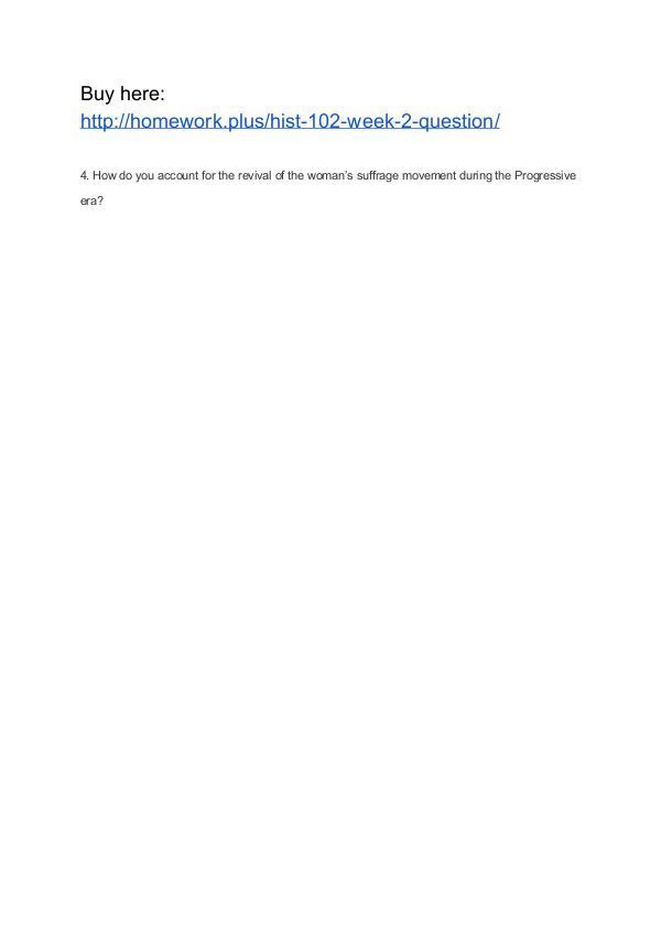 HIST 102 Week 2 Question APU