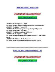 HRM 350 EDU Invent Yourself/hrm350edu.com