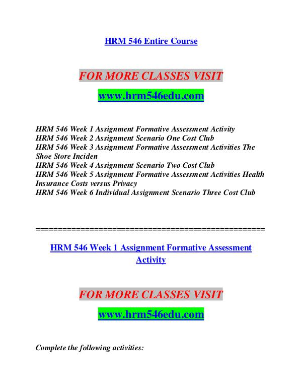 HRM 546 EDU Invent Yourself/hrm546edu.com HRM 546 EDU Invent Yourself/hrm546edu.com