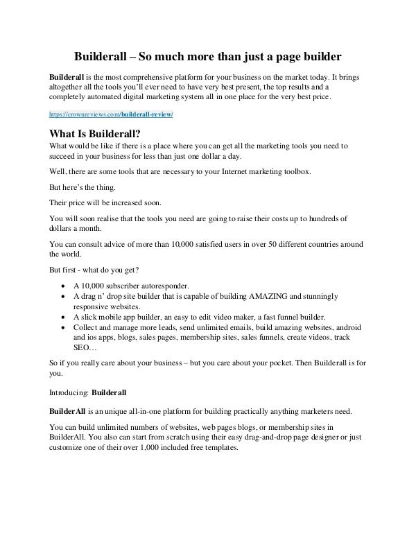 Builderall review -(GET) AMAZING +100 items bonus pack Builderall review & massive +100 bonus items