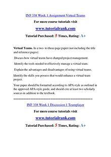 INF 338 Course Great Wisdom / tutorialrank.com