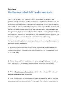 INFO 321 Paden Case Study