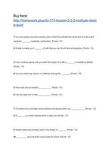 ITC 111 Lesson 2-2.2 Multiple Choice Quiz