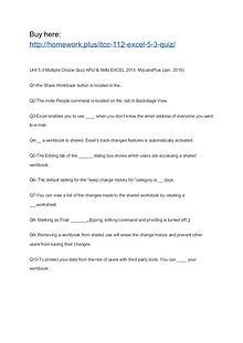 ITCC 112 Excel 5.3 Quiz