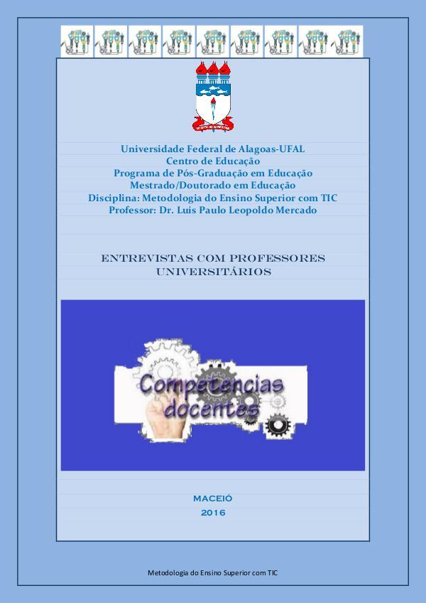COMPETÊNCIAS DOCENTES COMPETÊNCIAS DO DOCENTE UNIVERSITÁRIO