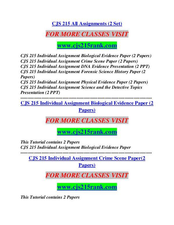 CJS 215 RANK Career Begins/cjs215rank.com CJS 215 RANK Career Begins/cjs215rank.com