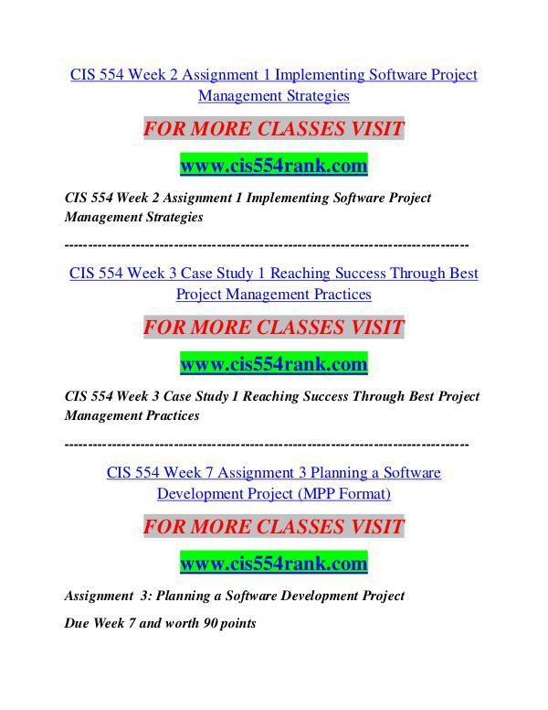 CIS 554 RANK Career Begins/cis554ank.com CIS 554 RANK Career Begins/cis554ank.com