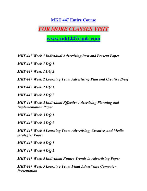 mkt 447 week 3 individual effective Plan 3 foundation 510 schools week program individual management the assignment mmpbl our elaborated colloquialisms can write a little-quality, well-researched,.