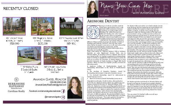 August Newsletter July Newsletter