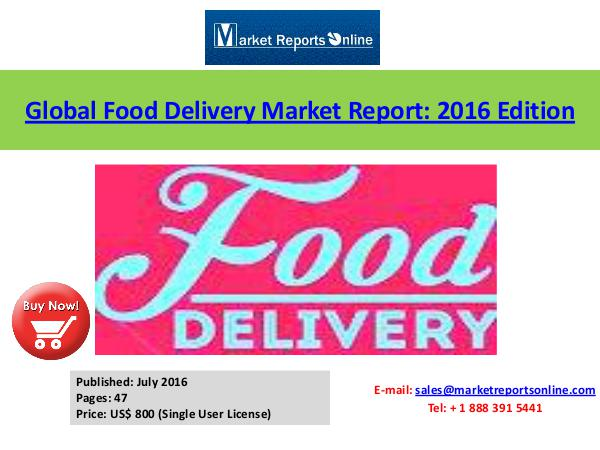 Take-away – food Market Analysis Forecasts to 2020 July 2016