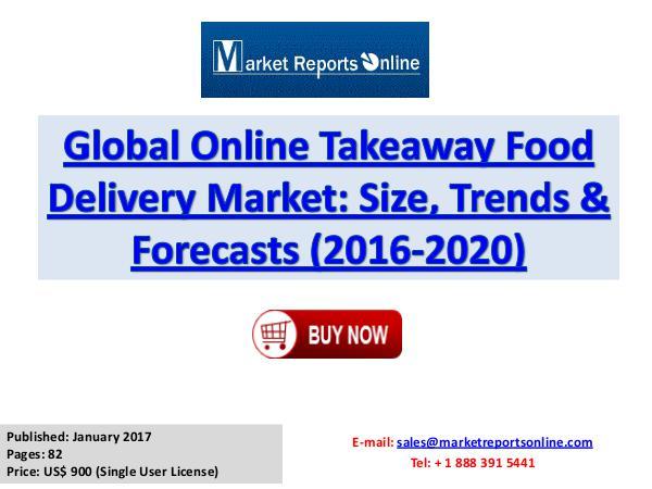World Online Takeaway Food Delivery Market Forecast 2020 Jan 2017