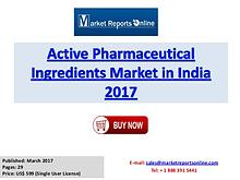 2017 Active Pharmaceutical Ingredients Market in India