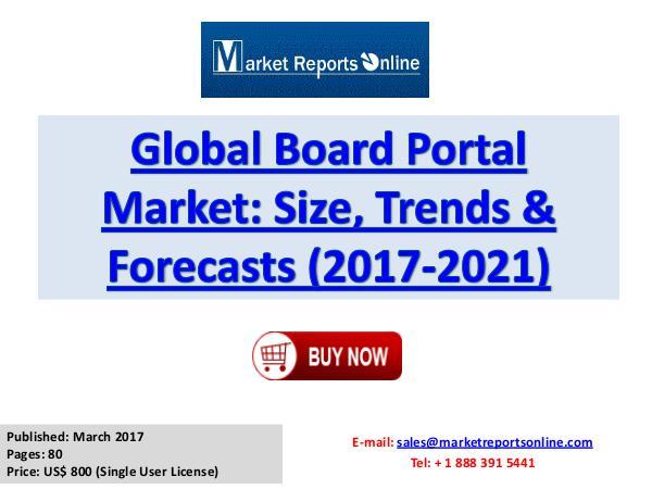 2017 Board Portal Market Covering 5 Companies March 2017