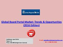 Board Portal Industry Analysis & 2020 Forecasts Research Report