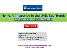 UAE Non-Life Insurance Market 2019 Forecasts