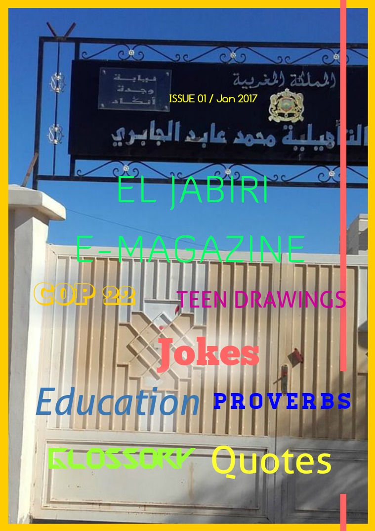 EL JABIRI E-MAGAZINE Issue 1