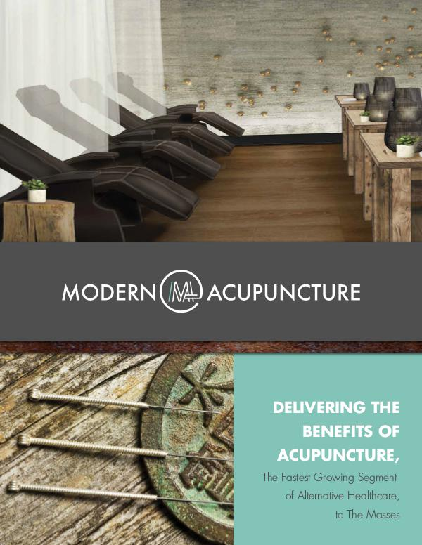 Modern Acupuncture Franchise Brochure 1