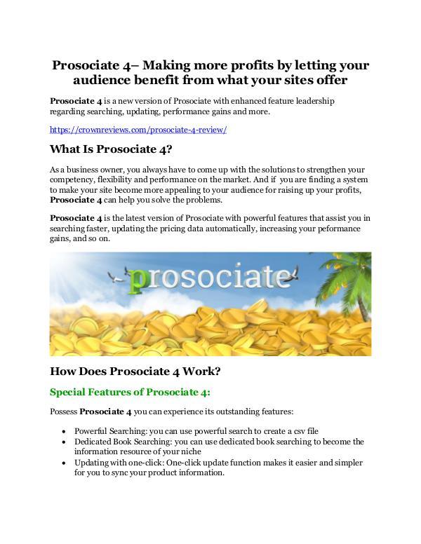 Prosociate 4 review in detail – Prosociate 4 Massive bonus Prosociate 4 Review-MEGA $22,400 Bonus & 65% DISCO